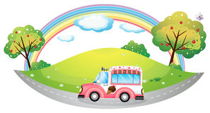 An ice cream truck Stock Images