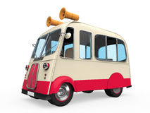 Ice Cream Truck. Isolated on white background. 3D render Stock Photos