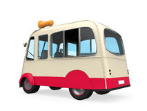 Ice Cream Truck. Isolated on white background. 3D render Stock Photo