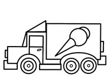 Ice cream  Truck kids educational coloring pages Stock Photography