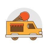 Ice cream truck logo template Stock Photos