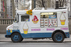 Ice cream truck in midtown Manhattan Royalty Free Stock Images