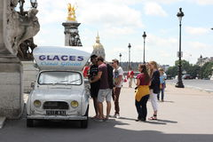 Ice Cream Truck in Paris Royalty Free Stock Photo