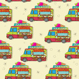 Ice cream truck pattern Royalty Free Stock Photography
