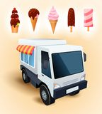 Ice cream truck Stock Photos