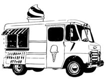 Ice cream truck Vector, Eps, Logo, Icon, Silhouette Illustration by crafteroks for different uses. Visit my website at https://cra vector illustration