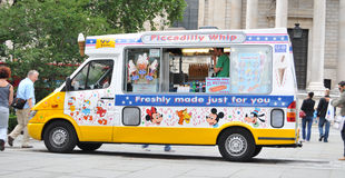 Ice cream van. Musical ice cream van waiting for customers in central london Stock Images