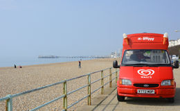 Ice Cream Van on Brighton Seafront, England Royalty Free Stock Photo