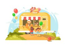Ice cream van Royalty Free Stock Images