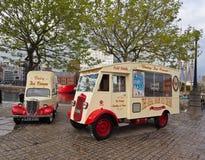 Ice cream van. Old ice cream vans at Liverpool water front, Liverpool, Merseyside, UK Stock Photography