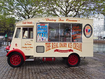 Ice cream van. Old ice cream vans at Liverpool water front, Liverpool, Merseyside, UK Royalty Free Stock Image