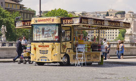 Ice cream van, Rome, Italy Stock Photo