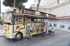 Ice cream van in Rome Royalty Free Stock Photography