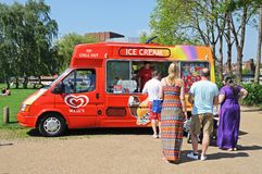 Ice Cream van, Stratford-upon-Avon. Royalty Free Stock Images