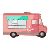 Ice cream van Royalty Free Stock Images