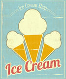 Ice Cream Vanilla Card Stock Image