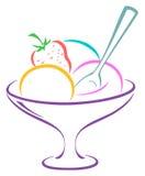Ice-cream in a vase Stock Photo