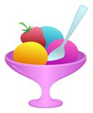 Ice cream in a vase Royalty Free Stock Photo