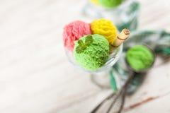 Ice cream vase Royalty Free Stock Photo