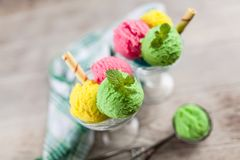 Ice cream vase Royalty Free Stock Photography