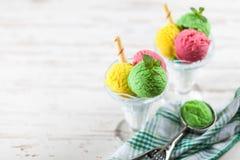 Ice cream vase Stock Photos