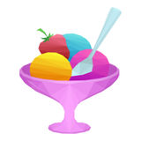 Ice Cream in Vase Low Poly Royalty Free Stock Images