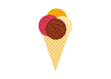 Ice cream vector Royalty Free Stock Photography
