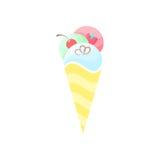 Ice cream. Vector fruit illustration Stock Photo