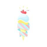 Ice cream. Vector fruit illustration Royalty Free Stock Photos