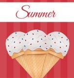 Ice cream vector illustration Stock Photos