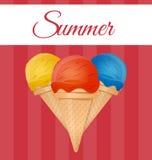 Ice cream vector illustration Royalty Free Stock Image
