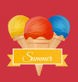 Ice cream vector illustration Royalty Free Stock Photos