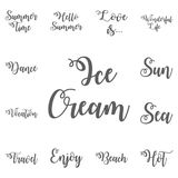 Ice Cream . Vector illustration. Stock Photos