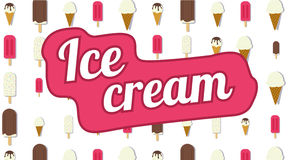 Ice cream vector illustration. Ice cream vector sign illustration, poster or banner symbol design vector illustration