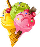 Ice Cream. Vector illustration on white background. EPS 10 Royalty Free Stock Photo