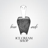 Ice cream vector logo, sign, emblem Stock Images