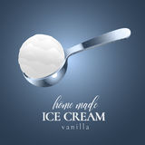 Ice cream vector logo, sign, symbol, emblem, illustration. Royalty Free Stock Photography