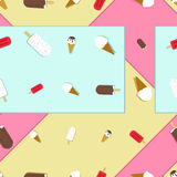 Ice cream vector seamless pattern Royalty Free Stock Photography