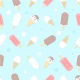 Ice cream vector seamless pattern Royalty Free Stock Photo