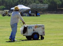 Ice Cream Vendor. In Park stock photography