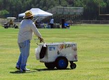 Ice Cream Vendor. In Park Stock Photography