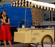 Ice cream vendor. Royalty Free Stock Photography