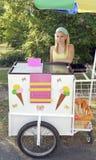Ice cream vendor girl Stock Photos