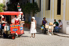 Ice cream vendor, Havana Royalty Free Stock Photography