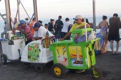 Ice cream vendors. In Latin America Royalty Free Stock Image