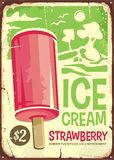 Ice cream vintage ad design Stock Images