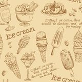 Ice cream vintage pattern Royalty Free Stock Photo