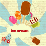 Ice Cream - vintage poster Stock Photography