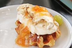 Ice cream waffle Stock Image