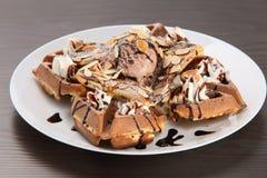 Ice cream waffle Royalty Free Stock Photo